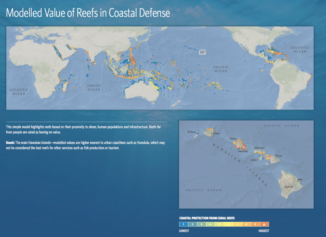 Modelled Value of Reefs in Coastal Defense